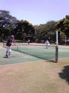 絶好のテニス日和