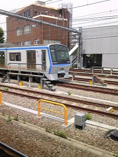 待避線の電車