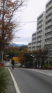 雨上がりの山並み
