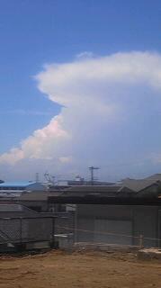 雲が昨日までと違う